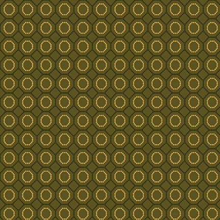 Sage & Sea Glass Dotted Hexies Green 1544-66