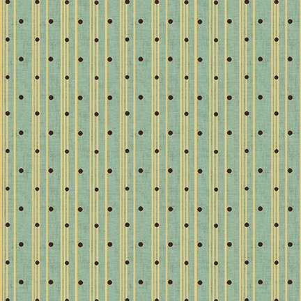 Sage & Sea Glass Polka Dot Ticking Stripe Blue 1548-11