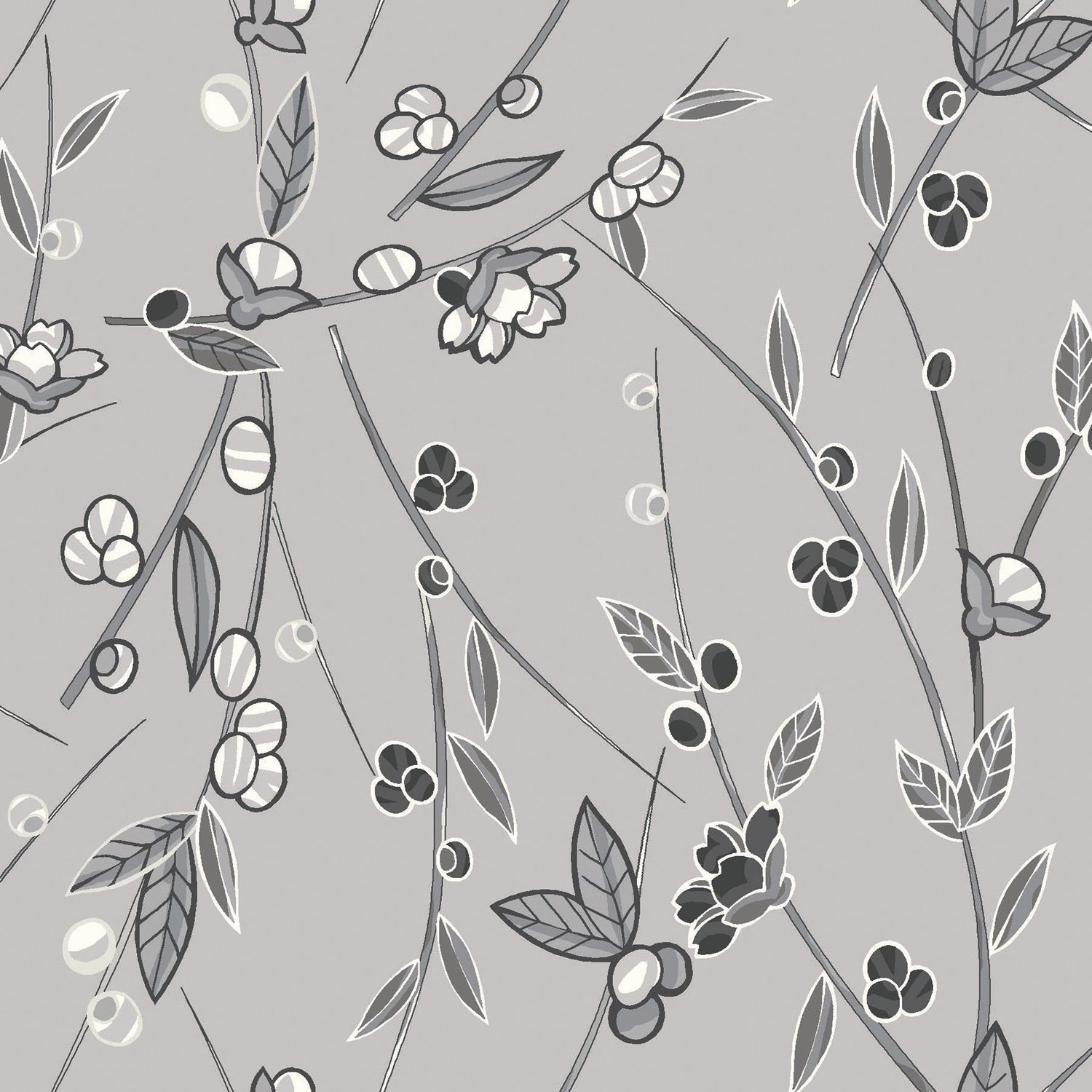 Orianna Branches & Leaves 26664-GRY1