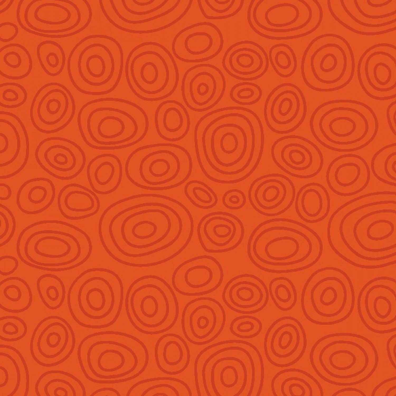 Orange Ellipse Rings 664-O