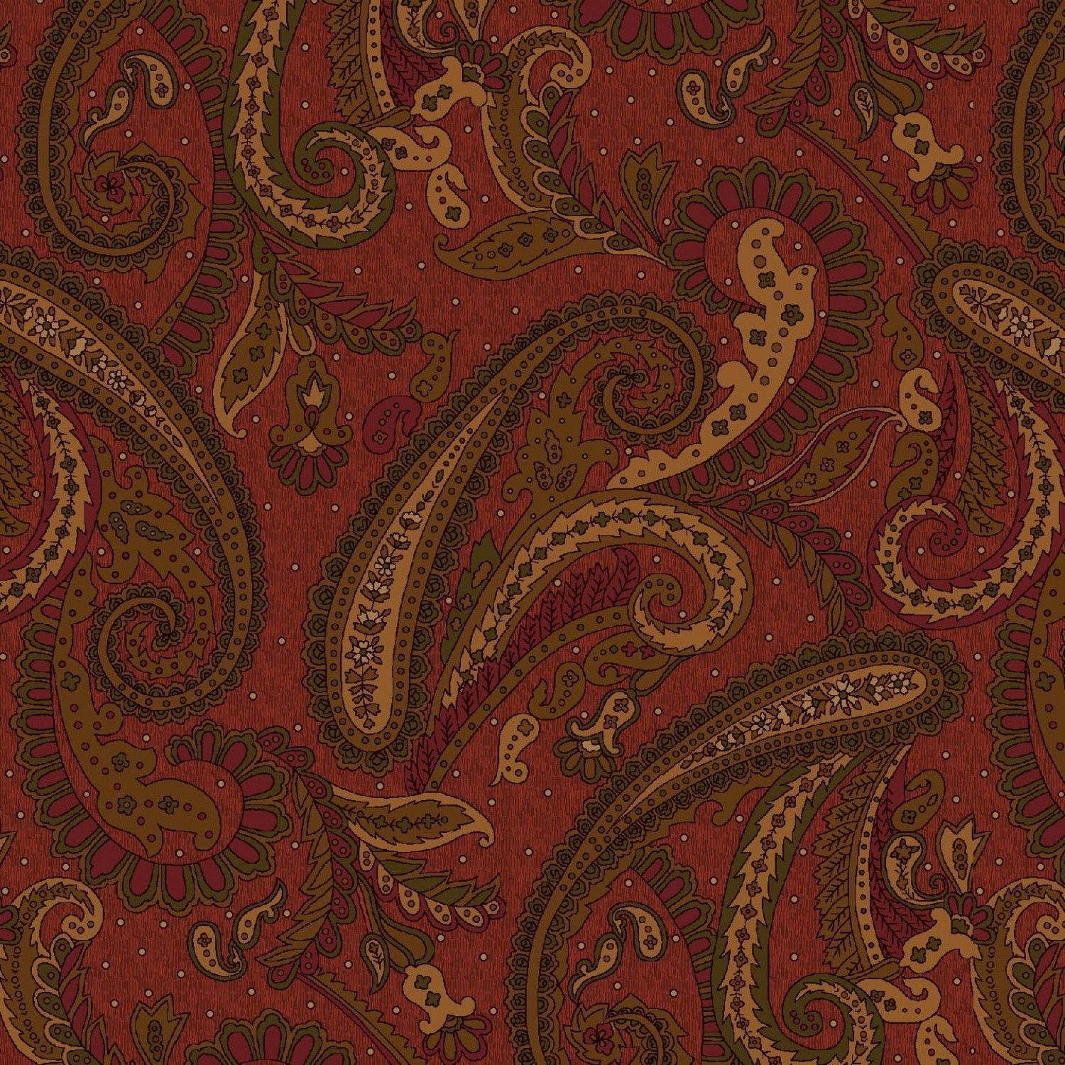 Katie's Cupboard Red Paisley 6670-88