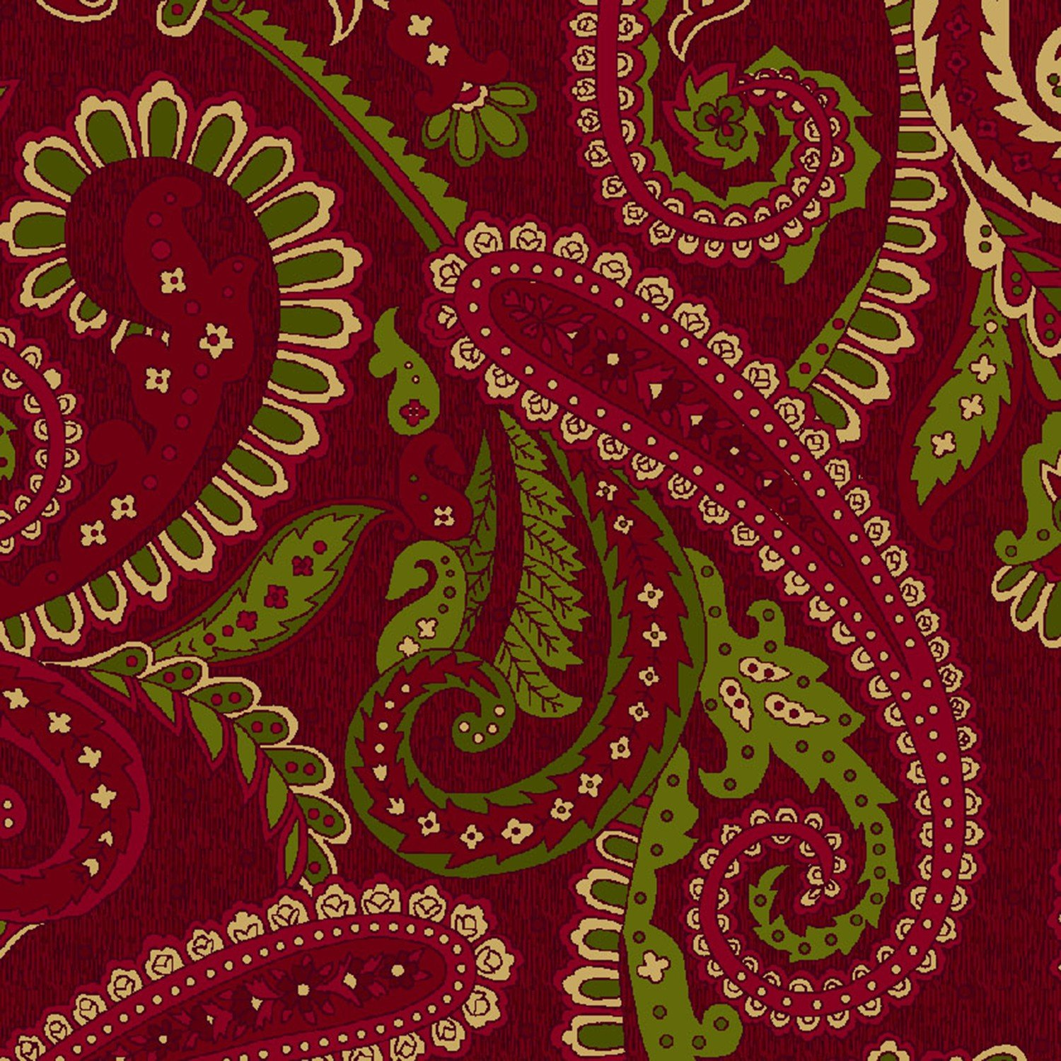 Abundant Blessings Paisley - Red 6785-88