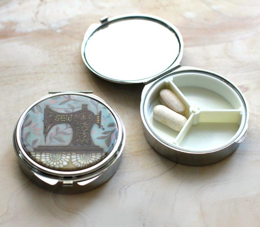 Sewing Machine Pill Box / Trinket Box