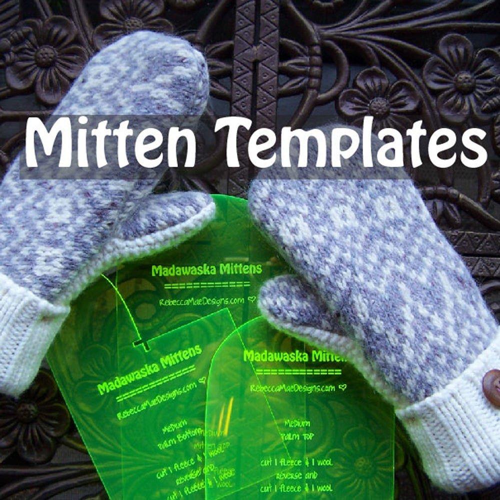 Madawaska Sweater Mitten Acrylic Templates