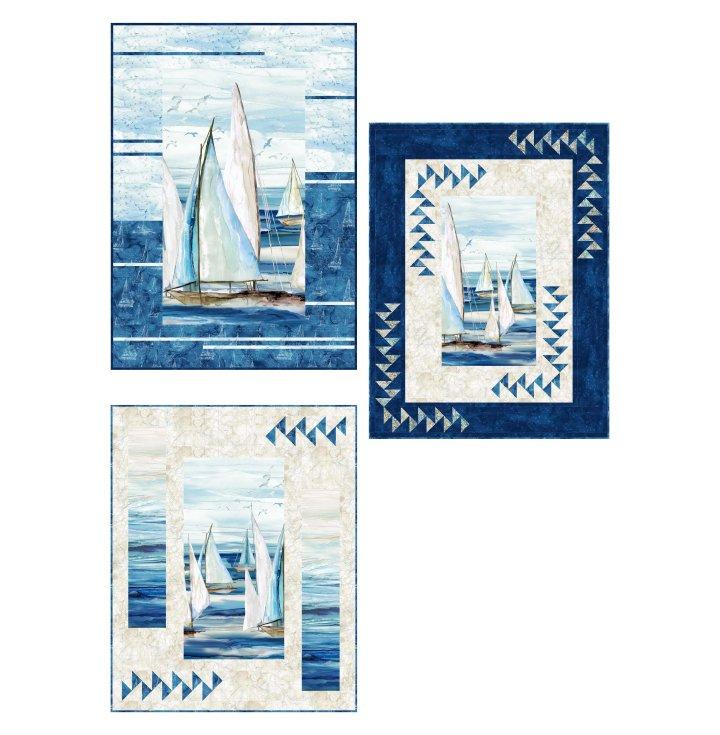 Panel Panache Pattern featuring Sail Away Fabrics