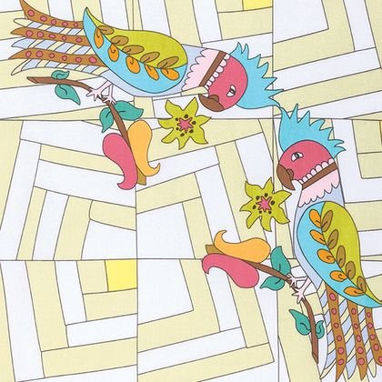 Pretty Folk Art Revolution Birds 16.PRET