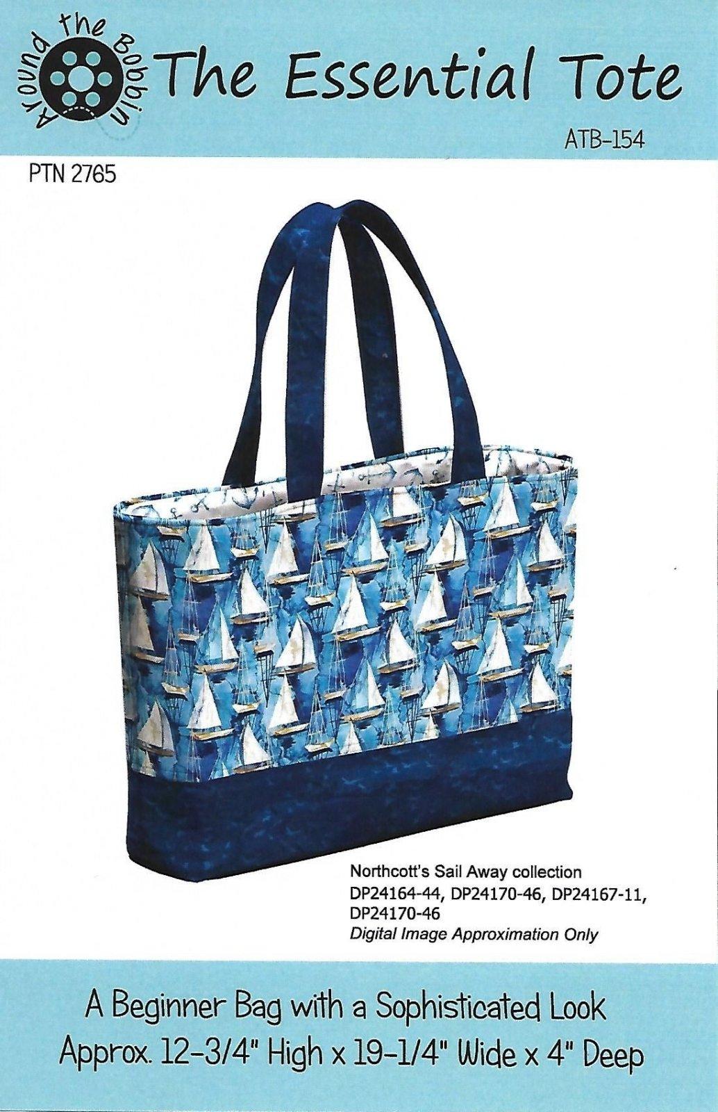 The Essential Tote Pattern featuring Sail Away Fabrics