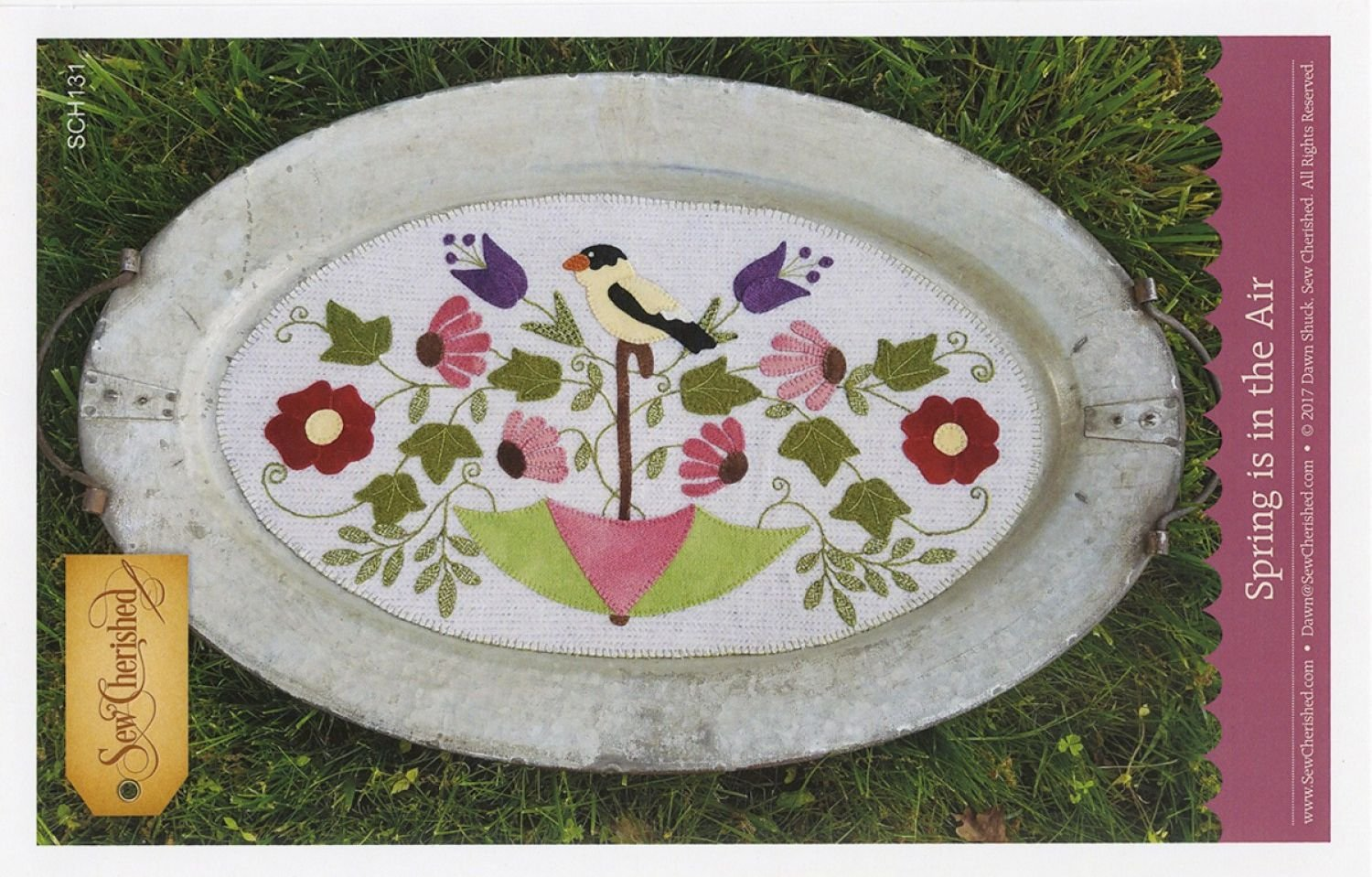 Spring is in the Air Wool Tablemat / Tin Tray Mat