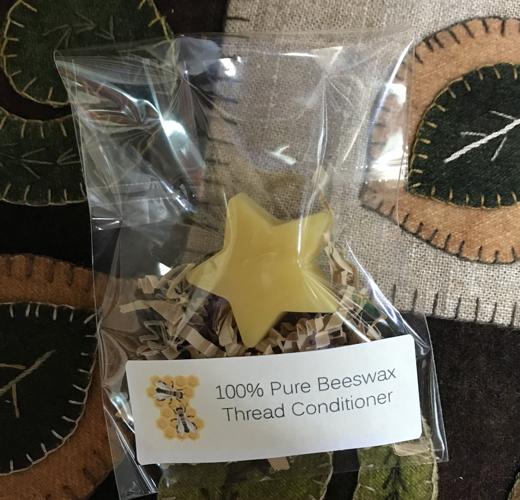 Large Star 100% Beeswax Thread Conditioner