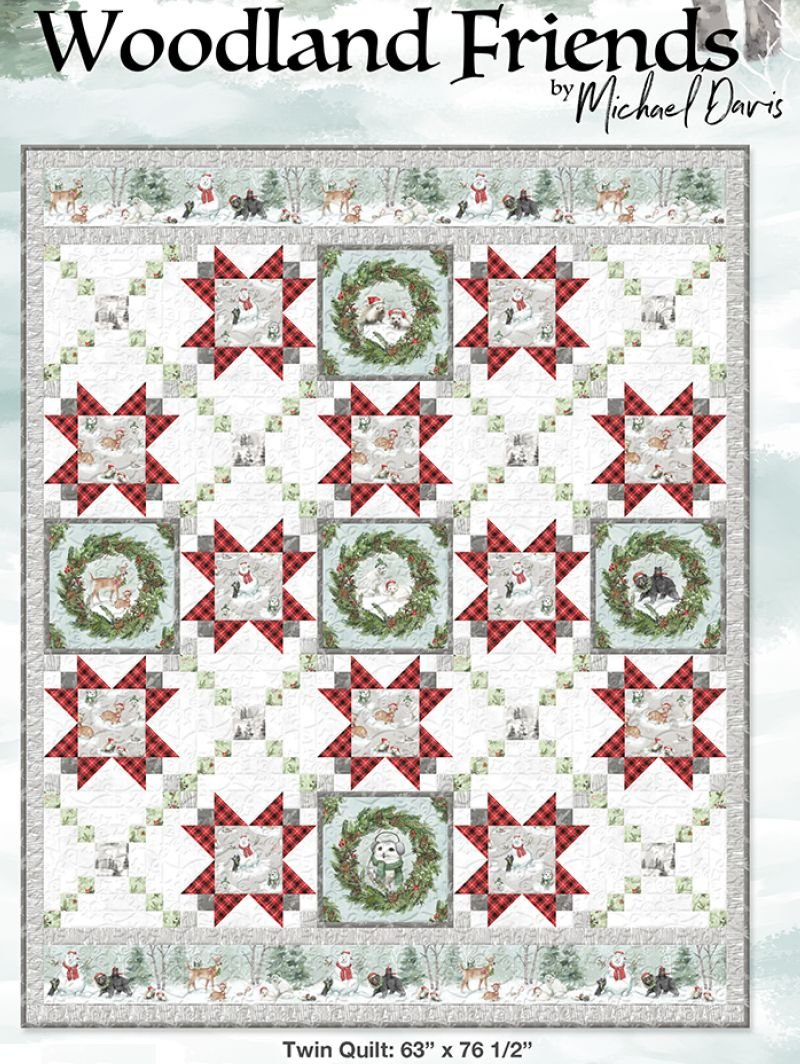 Woodland Friends Twin Size Quilt Kit