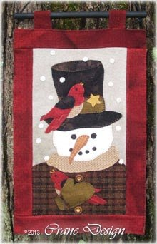 Sammie Snow Wool Applique Kit
