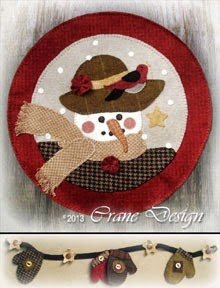 Sandie Snow Wool Applique Kit