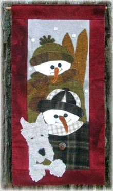 Snow Kids Wool Applique Kit