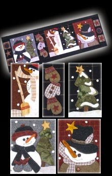 Snowman Parade Wool Applique Kit