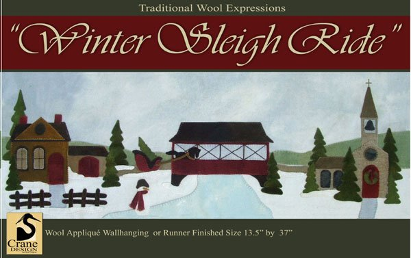 Winter Sleigh Ride Wool Applique Kit