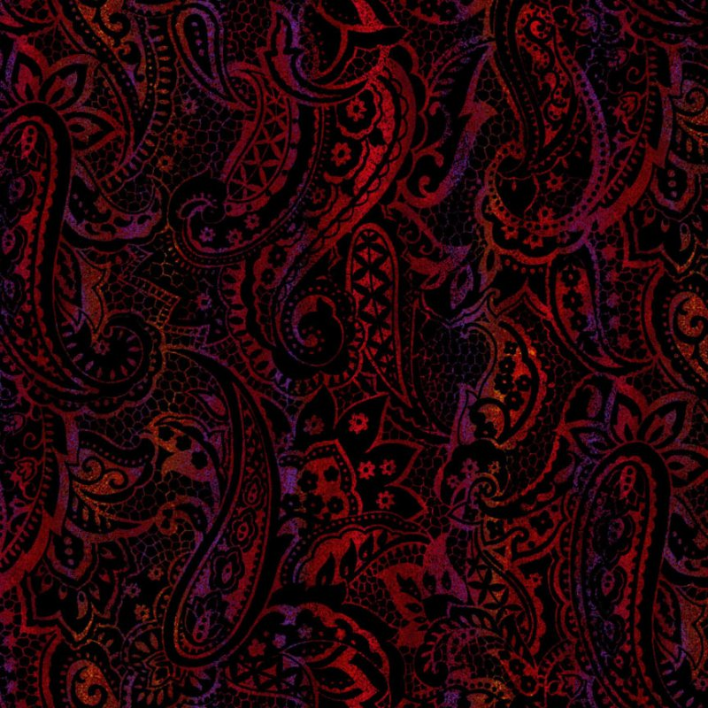 Milan-Paisley Red/Purple