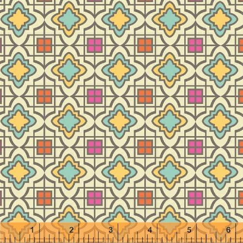 Windham - Cabana Blooms by Iza Pearl Designs-Natural Tile