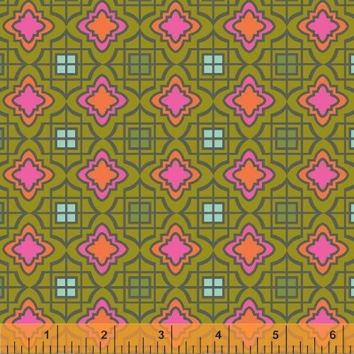 Windham - Cabana Blooms by Iza Pearl Designs-Green Tile