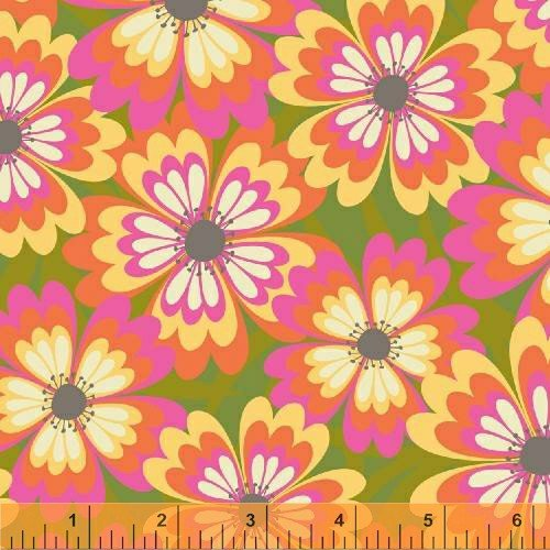 Windham Fabrics - Cabana Blooms by Iza Pearl Designs - Sunshine Floral