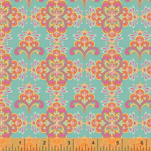 Windham - Cabana Blooms by Iza Pearl Designs-Turquoise Mosaic