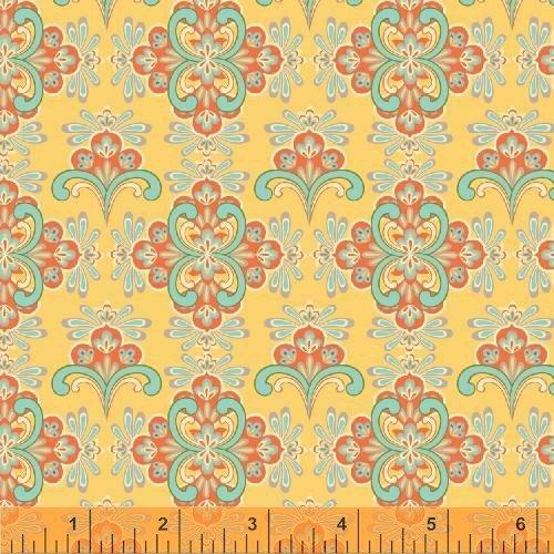 Windham - Cabana Blooms by Iza Pearl Designs-Yellow Mosaic