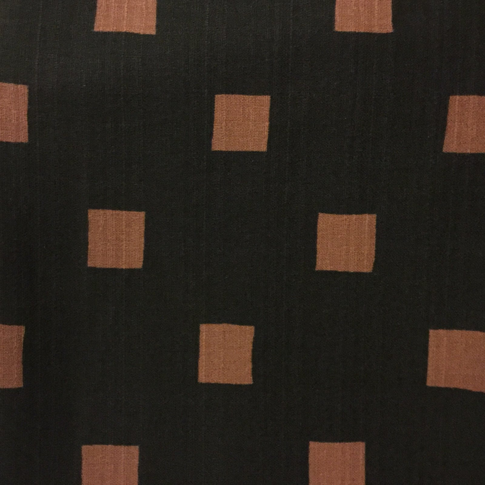 Hokkoh - Bark Cloth - Squares - Black/Chocolate