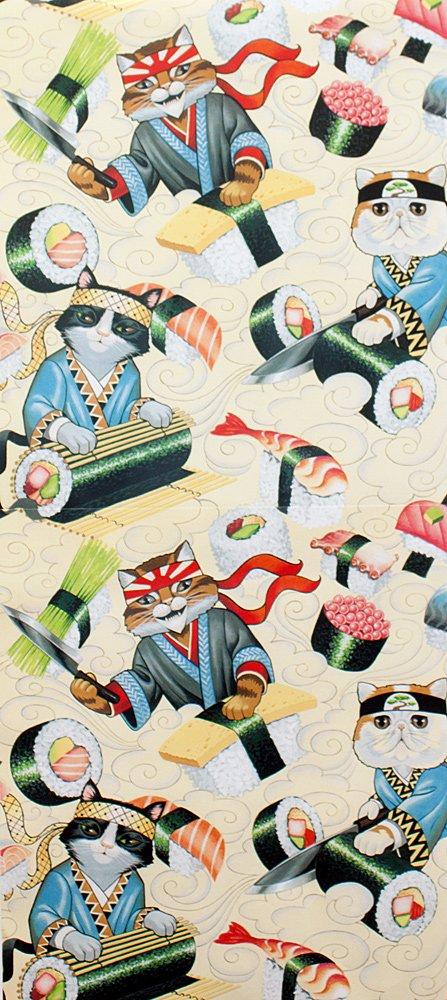 Alexander Henry Fabrics - Indochine - Rockin Rolls - Tea