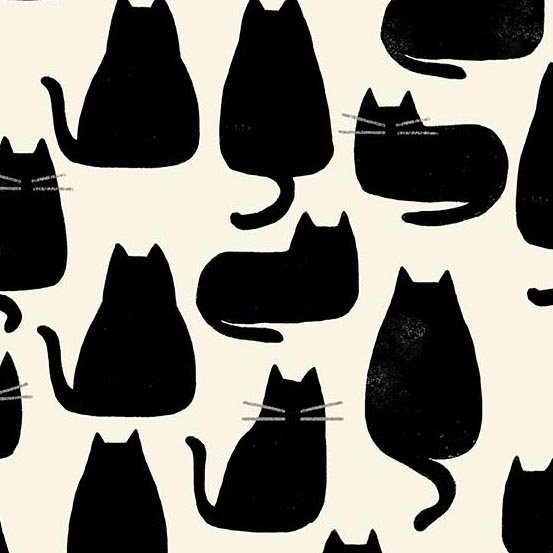 Andover Fabrics - Home by Sarah Golden - Whiskers - Chat Noir