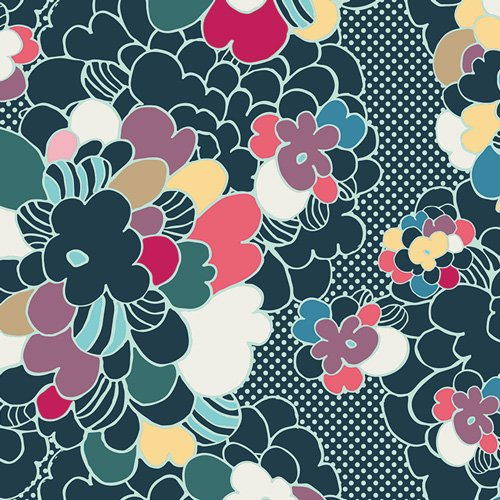 Art Gallery Fabrics - Pop Art - Winterflower