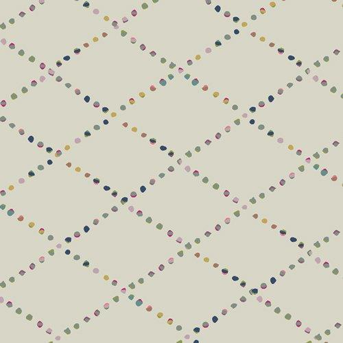 Art Gallery Fabrics - Mystical Land - Bokeh Lattice - Cream