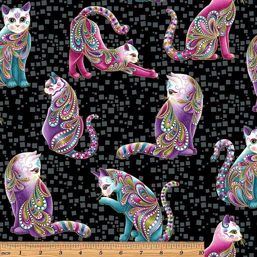 CAT-I-TUDE - Artist-O-Cats - Black
