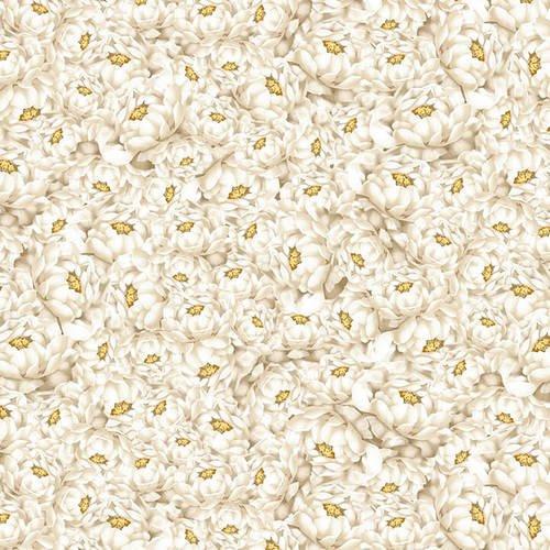 Blank Quilting - Narumi - Peonies - Ivory