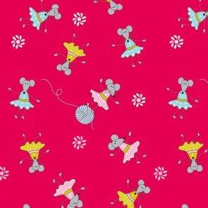 Stof Fabrics - ABC Diaries - Yarn & Mice - Red