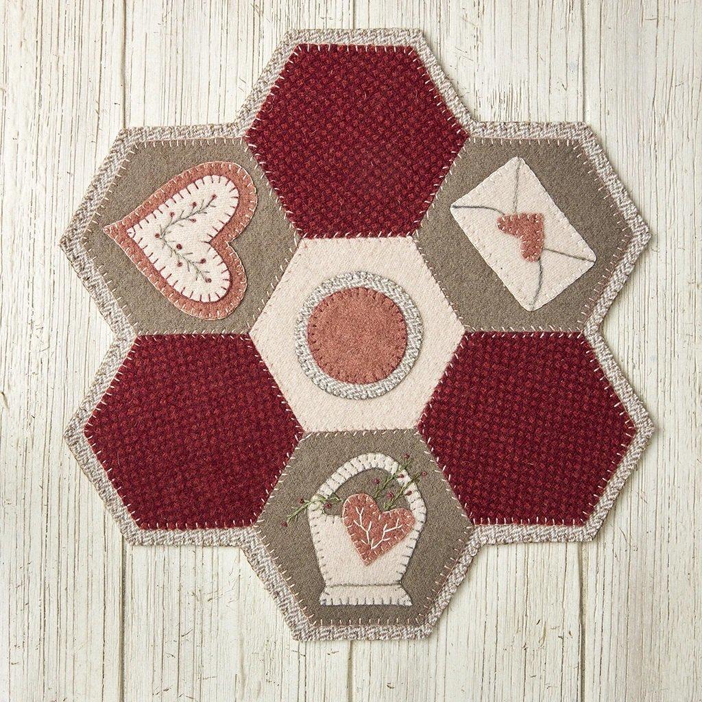 Buttermilk Basin Quilt Patterns - Hexi Mat - February