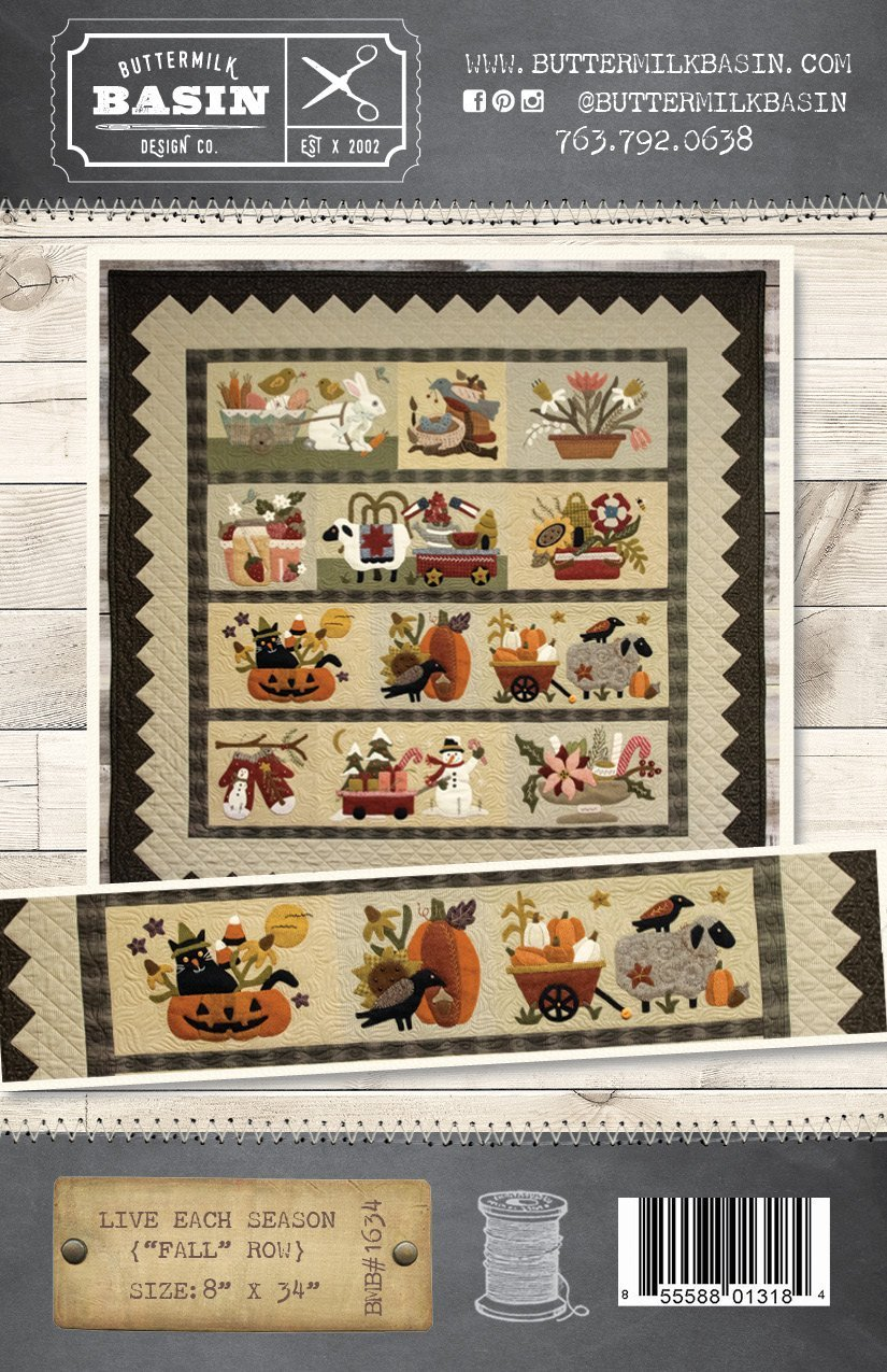 Buttermilk Basin Quilt Patterns - Live Each Season - Fall Row