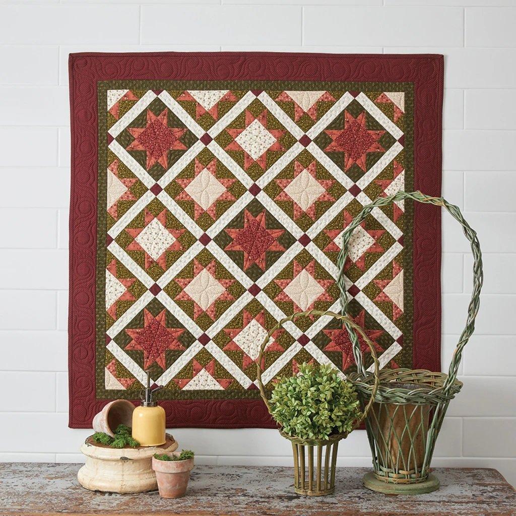 Buttermilk Basin Quilt Patterns - Flower Garden Path Quilt