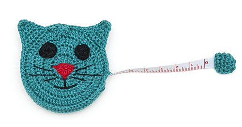 Crocheted Tape Measures - Cat