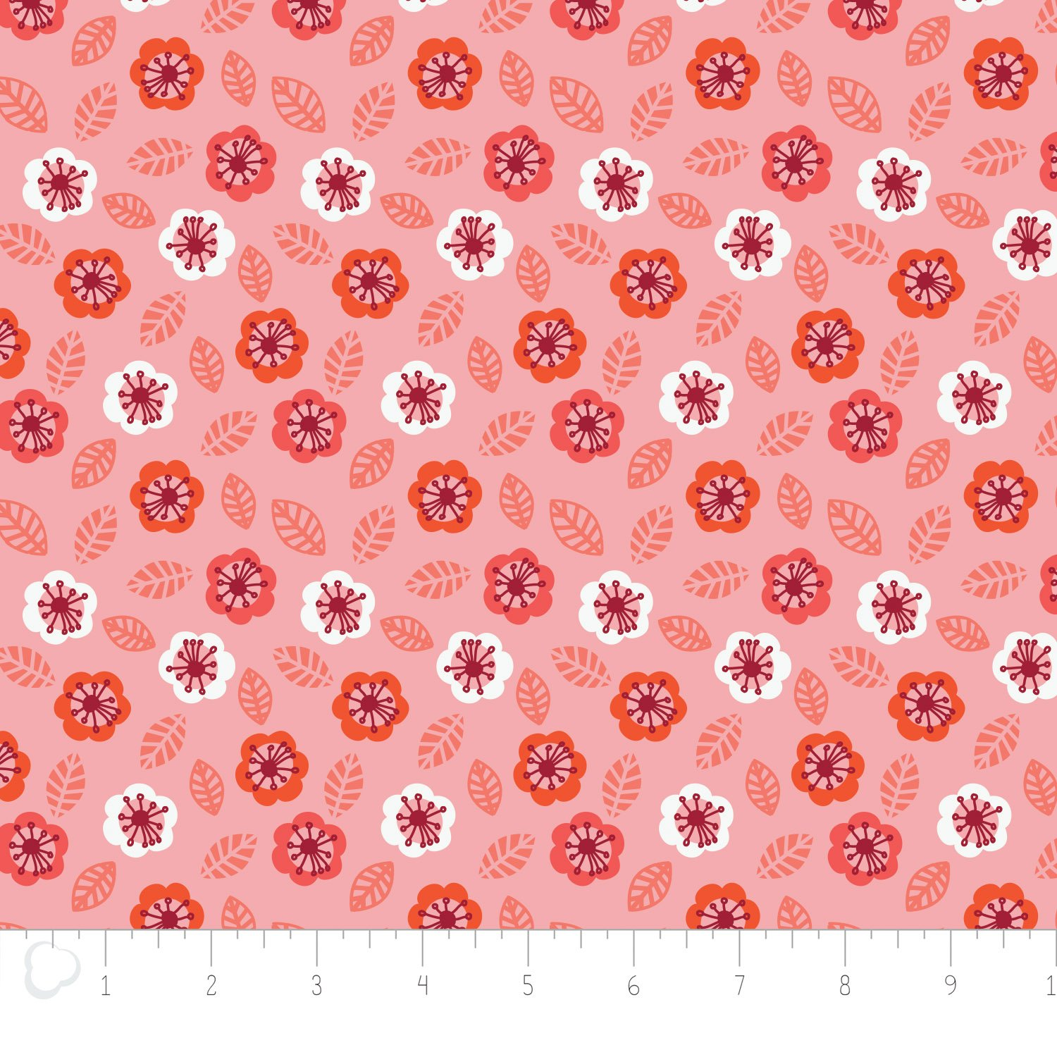 Camelot Fabrics-Jungly by Andrea Turk-Floral in Pink