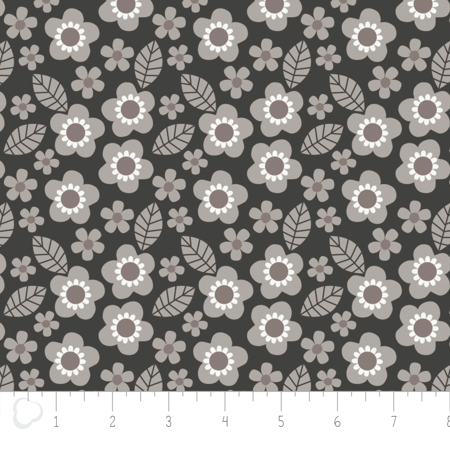 Camelot Fabrics-Mama & Me by Andrea Turk-Flowers in Carbon