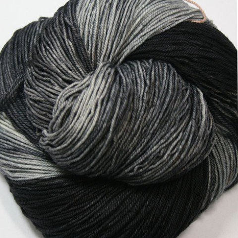 Dragonfly Fibers - Djinni Sock - Black Pearl