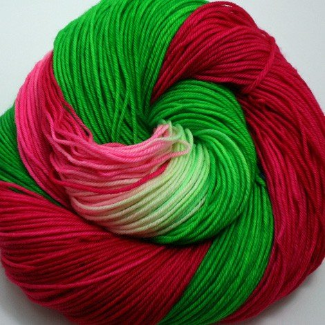 Dragonfly Fibers - Djinni Sock - Watermelon Head