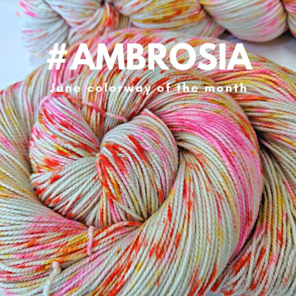The Fiber Seed Yarn - Sprout Sock - Color of the Month Club - June 2018 - Ambrosia
