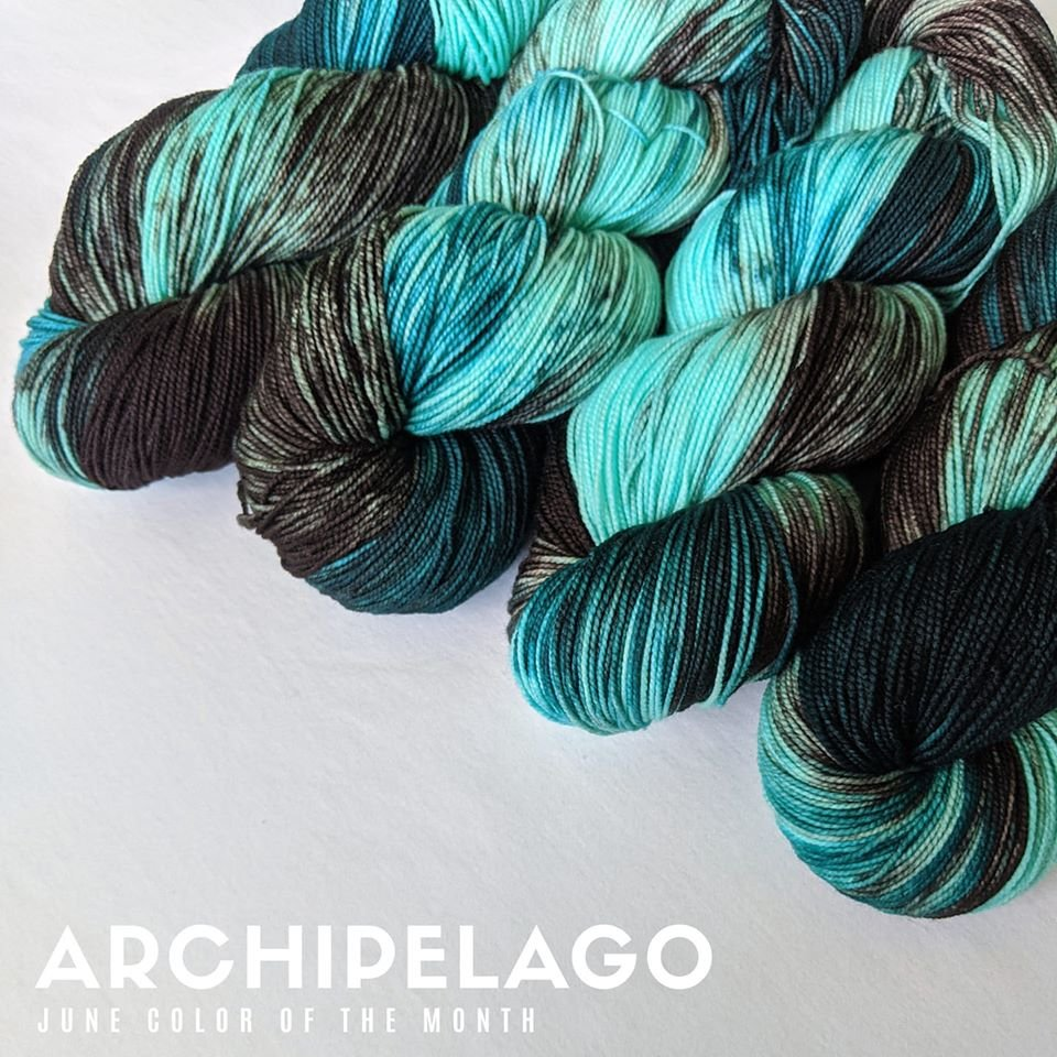 The Fiber Seed Yarn - Sprout Sock - Color of the Month Club - June 2020 -  Archipelago
