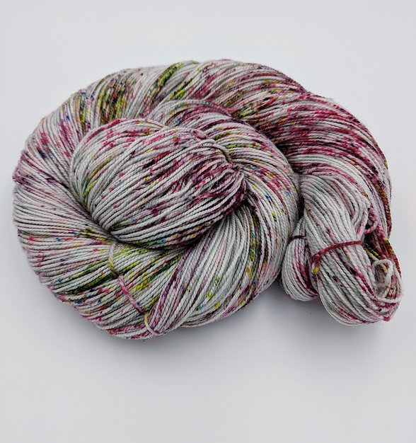 The Fiber Seed Yarn - Sprout Sock - Color of the Month Club - September 2018 - Candied Apple