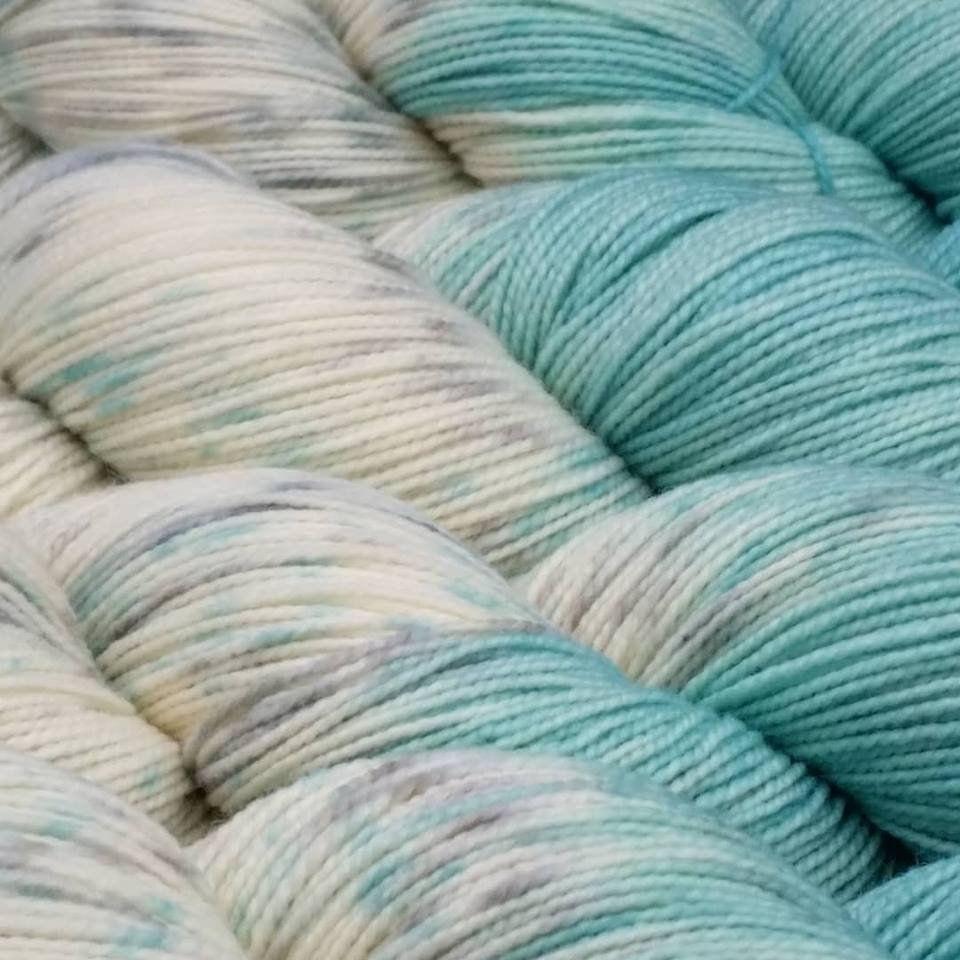 The Fiber Seed Yarn - Sprout Sock - Color of the Month Club - March 2018  - Breakfast at Tiffany's