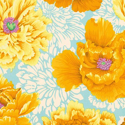 Philip Jacobs-Brocade Peony-Yellow