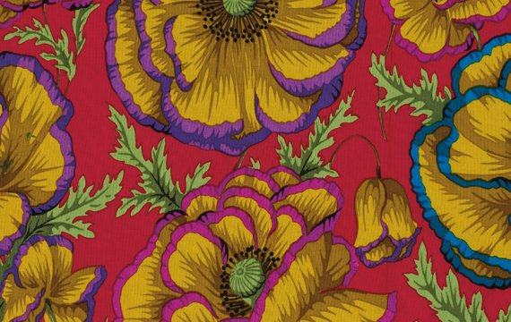Philip Jacobs-Banded Poppy-Carmine