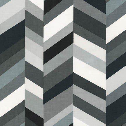 Robert Kaufman -  Geo Pop Canvas - Chevrons-Pepper
