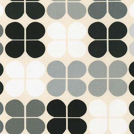 Robert Kaufman -  Geo Pop Canvas - Clover-Pepper