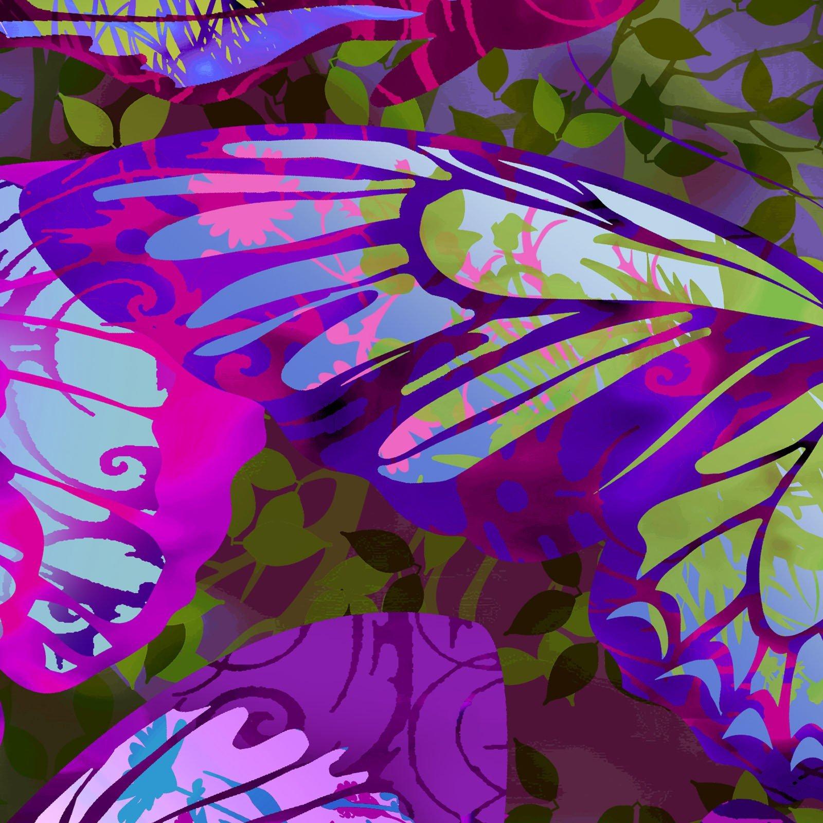 Dreamscapes II - Large Butterflies - Purple/Multi